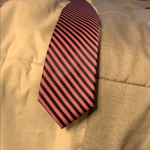 Nautica men's striped pink/navy necktie